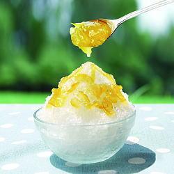 柚茶かけかき氷